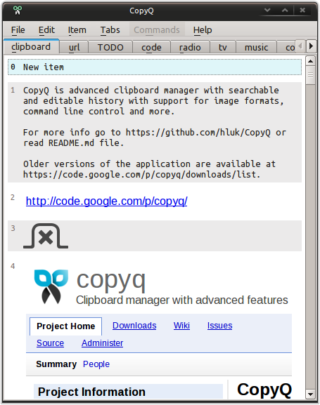 What's new in CopyQ 4.0 Crack 2021: