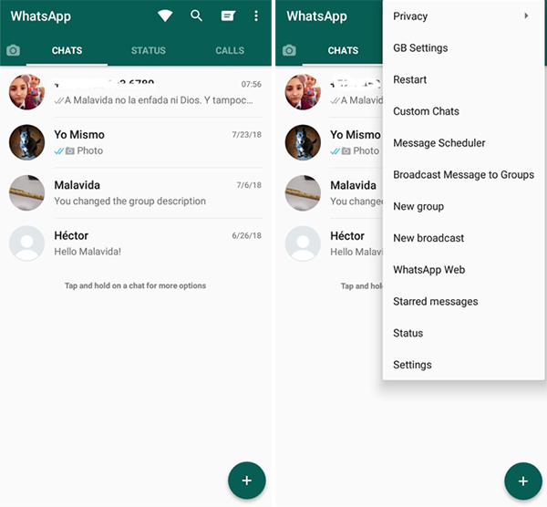 Download GBWhatsApp Pro v12.00 Version For Android Scheduler