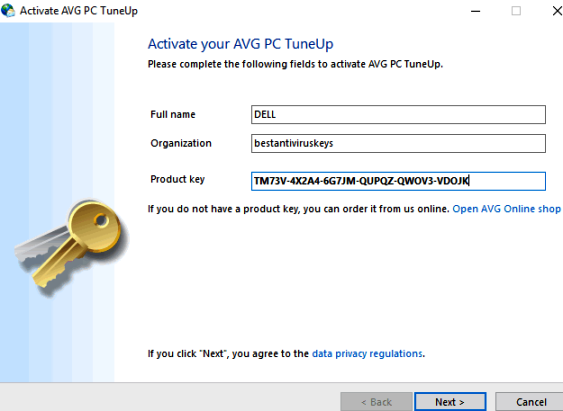 Frees Up Space AVG PC TuneUp keygen: